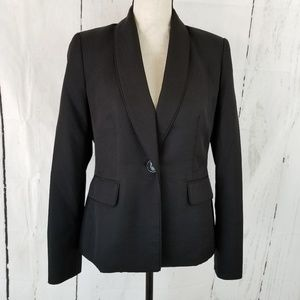 Evan Picone Blazer Size 4 Black Long Sleeve
